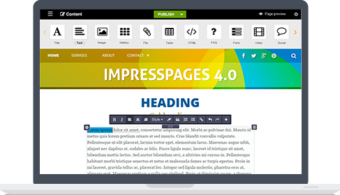 ImpressPages feature - Usability